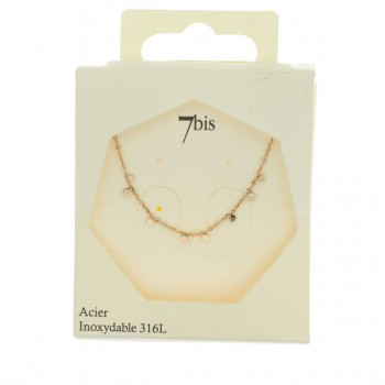 Collier pampilles rose gold 7 Bis