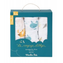 Set de 3 langes Olga Moulin Roty