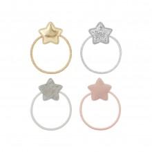 Elastiques étoiles paillettes