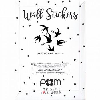 Stickers hirondelles noires