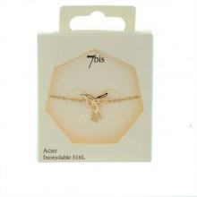 Bracelet colibri doré rose acier 7 bis