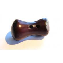 Bouton perle de Tagua Marron