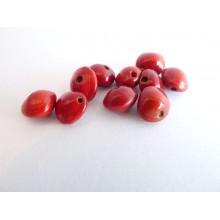 Lot de 10 perles Pau du Brésil