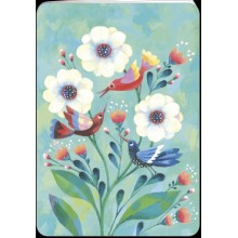 Carnet fleurs blanches