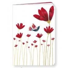 Carnet fleurs rouge Blanz